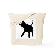 Black Kitten Silhouette Tote Bag