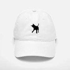 Black Kitten Silhouette Baseball Baseball Cap