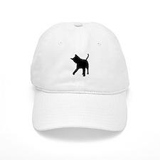 Black Kitten Silhouette Baseball Cap