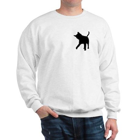 Black Kitten Silhouette Sweatshirt