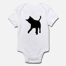 Black Kitten Silhouette Infant Creeper