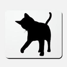 Black Kitten Silhouette Mousepad