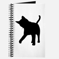 Black Kitten Silhouette Journal