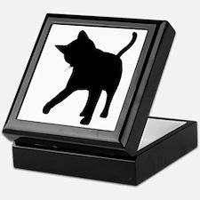 Black Kitten Silhouette Keepsake Box