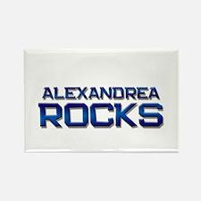 alexandrea rocks Rectangle Magnet