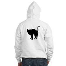 Black Cat Silhouette Jumper Hoody