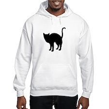 Black Cat Silhouette Hoodie