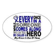 HERO Comes Along 1 Niece CC Oval Decal