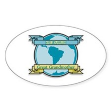 World Champion Great Grandmother Oval Decal