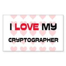 I Love My Cryptographer Rectangle Decal