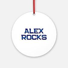 alex rocks Ornament (Round)