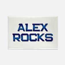 alex rocks Rectangle Magnet