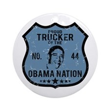 Trucker Obama Nation Ornament (Round)