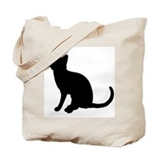 Black Cat Silhouette Tote Bag