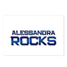 alessandra rocks Postcards (Package of 8)
