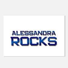 alessandra rocks Postcards (Package of 8)