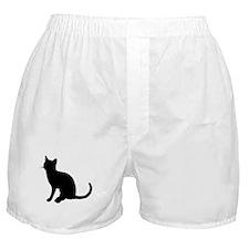 Black Cat Silhouette Boxer Shorts