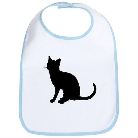 Black Cat Silhouette Bib