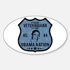 Veterinarian Obama Nation Oval Decal