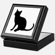 Black Cat Silhouette Keepsake Box
