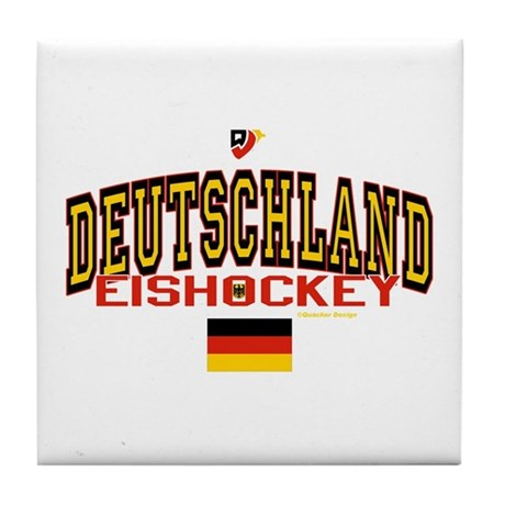 DE Germany Hockey Deutschland Tile Coaster