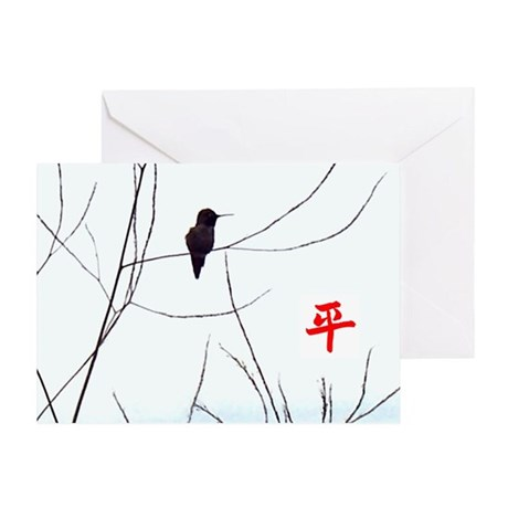 Peace Hummingbird Greeting Card