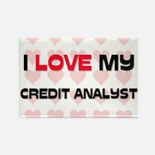 I Love My Credit Analyst Rectangle Magnet