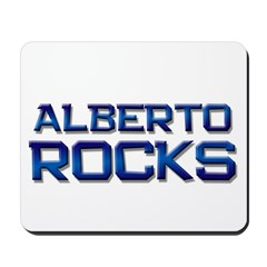alberto rocks Mousepad