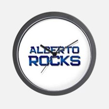 alberto rocks Wall Clock