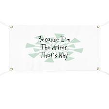 Because Writer Banner