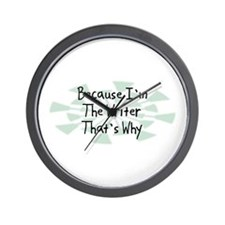 Because Writer Wall Clock