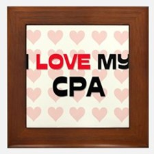 I Love My Cpa Framed Tile