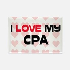 I Love My Cpa Rectangle Magnet