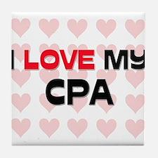I Love My Cpa Tile Coaster