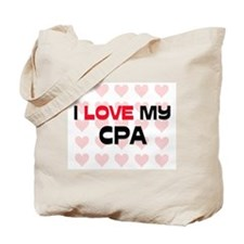 I Love My Cpa Tote Bag