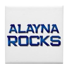 alayna rocks Tile Coaster