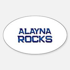 alayna rocks Oval Decal