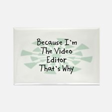 Because Video Editor Rectangle Magnet (10 pack)