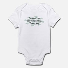 Because Veterinarian Infant Bodysuit