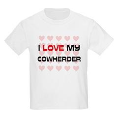 I Love My Cowherder Kids Light T-Shirt