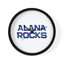 alana rocks Wall Clock