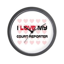 I Love My Court Reporter Wall Clock