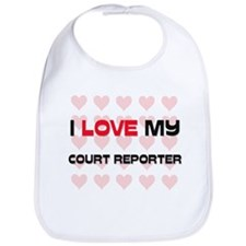 I Love My Court Reporter Bib