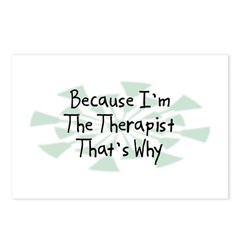 Because Therapist Postcards (Package of 8)