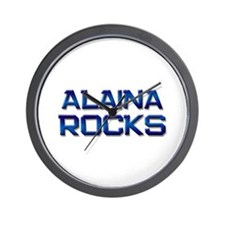 alaina rocks Wall Clock