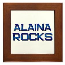 alaina rocks Framed Tile