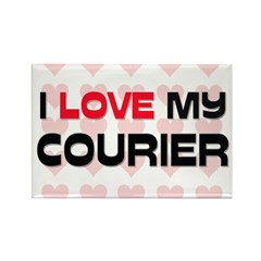 I Love My Courier Rectangle Magnet (10 pack)