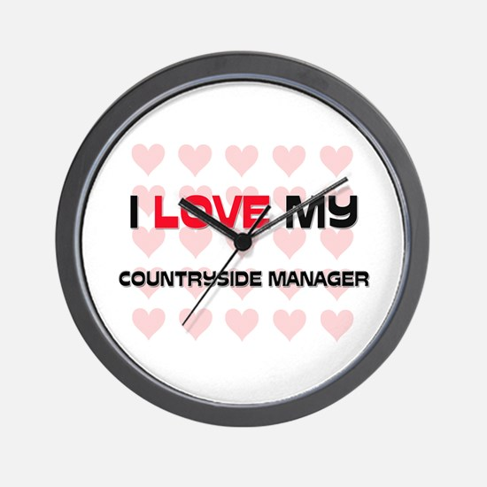 I Love My Countryside Manager Wall Clock
