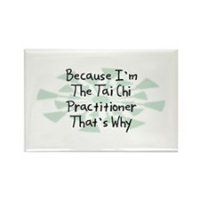 Because Tai Chi Practitioner Rectangle Magnet (10