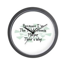 Because Table Tennis Player Wall Clock